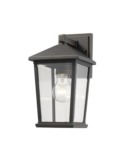 Z-Lite Beacon Collection 1 Light Outdoor Wall Sconce in Oil Rubbed Bronze Finish, 568S-ORB
