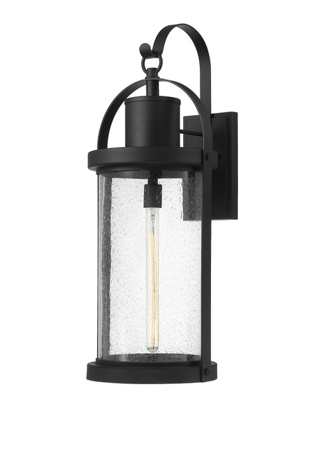 Z-Lite Roundhouse Collection 1 Light Outdoor Wall Sconce in Black Finish, 569XL-BK
