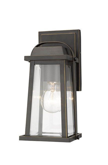 Z-Lite Millworks Collection 1 Light Outdoor Wall Sconce in Oil Rubbed Bronze Finish, 574S-ORB