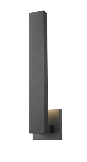 Z-Lite Edge Collection 2 Light Outdoor Wall Sconce in Black Finish, 576M-BK-LED