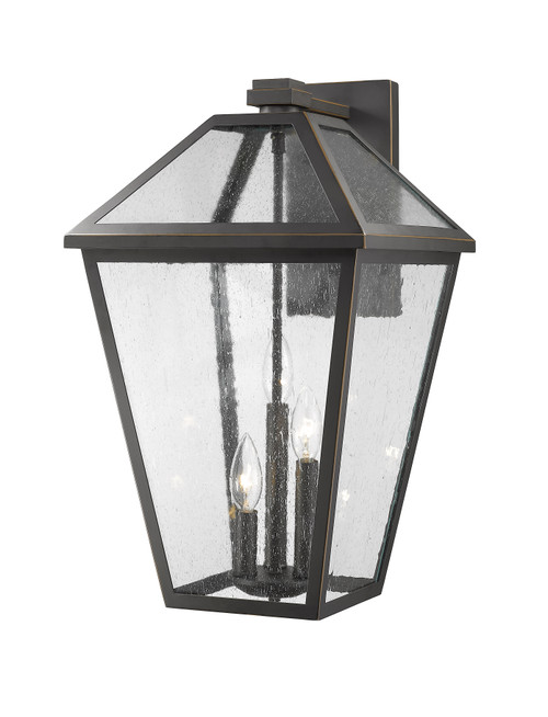 Z-Lite Talbot Collection 3 Light Outdoor Wall Sconce in Oil Rubbed Bronze Finish, 579XL-ORB