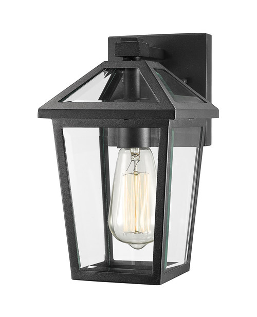 Z-Lite Talbot Collection 1 Light Outdoor Wall Sconce in Black Finish, 579S-BK