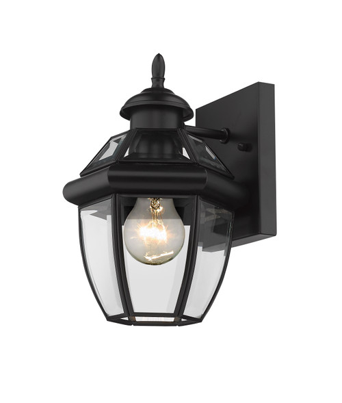 Z-Lite Westover Collection 1 Light Outdoor Wall Sconce in Black Finish, 580XS-BK