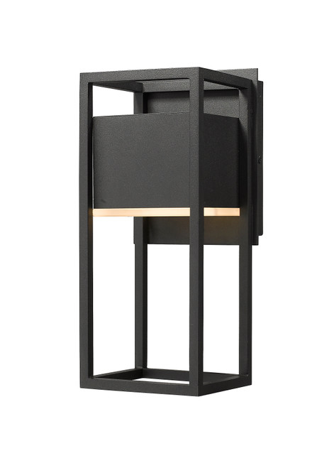 Z-Lite Barwick Collection 1 Light Outdoor Wall Sconce in Black Finish, 585S-BK-LED