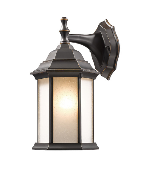 Z-Lite Waterdown Collection 1 Light Outdoor Wall Light in Oil Rubbed Bronze Finish