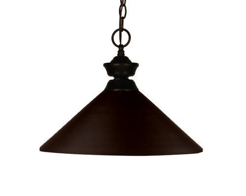Z-Lite Shooter Collection 1 Light Pendant in Bronze Finish, 100701BRZ-MBRZ
