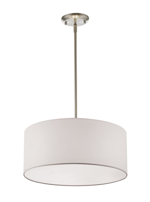 Z-Lite Albion Collection 3 Light Pendant in Brushed Nickel Finish, 244-24W