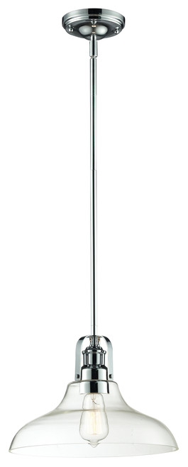 Z-Lite Forge Collection 1 Light Pendant in Chrome Finish, 321-13MP-CH