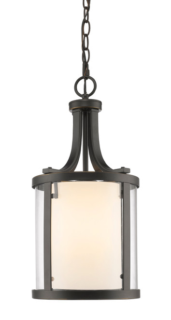 Z-Lite Willow Collection 3 Light Pendant in Olde Bronze Finish, 426-3-OB
