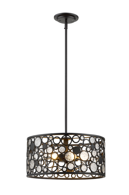 Z-Lite Ariell Collection 5 Light Pendant in Bronze Finish, 450-16BRZ