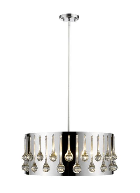 Z-Lite Oberon Collection 5 Light Pendant in Chrome Finish, 453-20CH