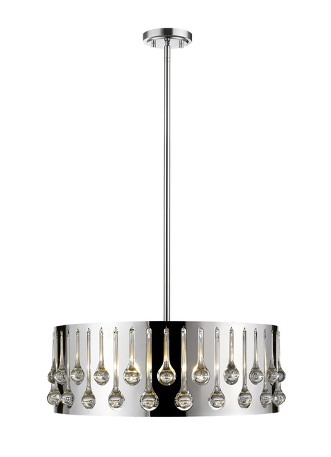 Z-Lite Oberon Collection 6 Light Pendant in Chrome Finish, 453-24CH