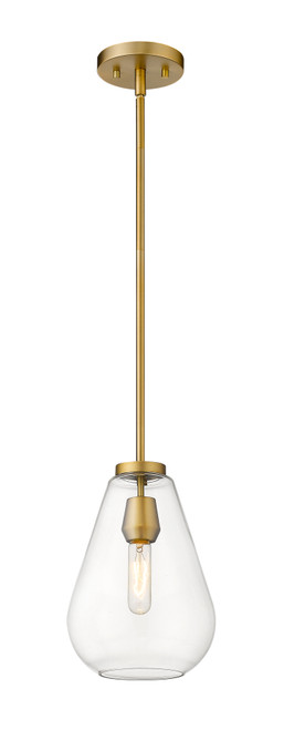 Z-Lite Ayra Collection 1 Light Pendant in Olde Brass Finish, 488P8-OBR