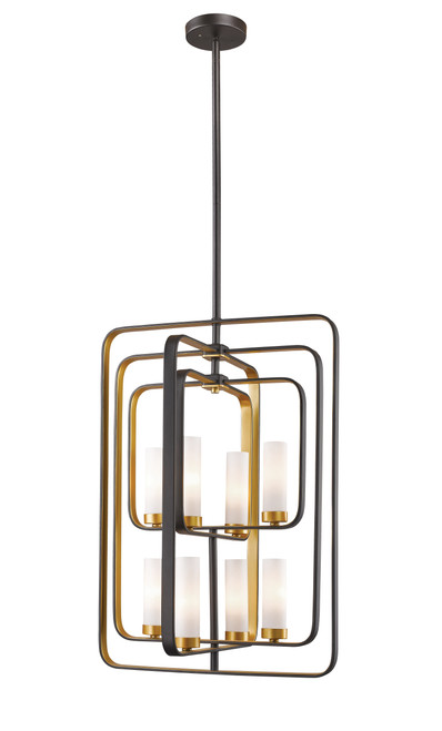 Z-Lite Aideen Collection 8 Light Pendant in Bronze Gold Finish, 6000-8B-BZGD
