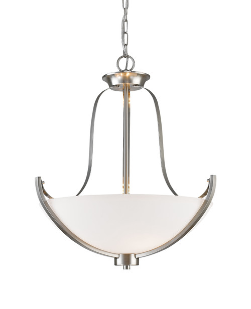 Z-Lite Halliwell Collection 3 Light Pendant in Brushed Nickel Finish, 7000P-BN