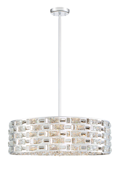 Z-Lite Aludra Collection 7 Light Pendant in Chrome Finish