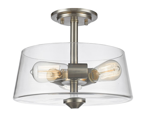 Z-Lite Annora Collection 3 Light Semi Flush Mount in Brushed Nickel Finish, 428SF3-BN