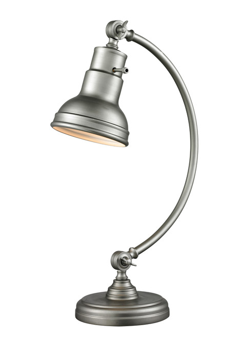 Z-Lite Ramsay Collection 1 Light Table Lamp in Burnished Silver Finish