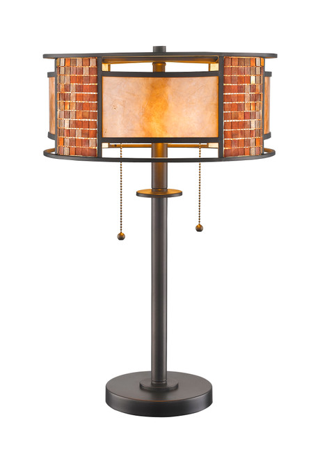 Z-Lite Parkwood Collection 2 Light Table Lamp in Bronze Finish