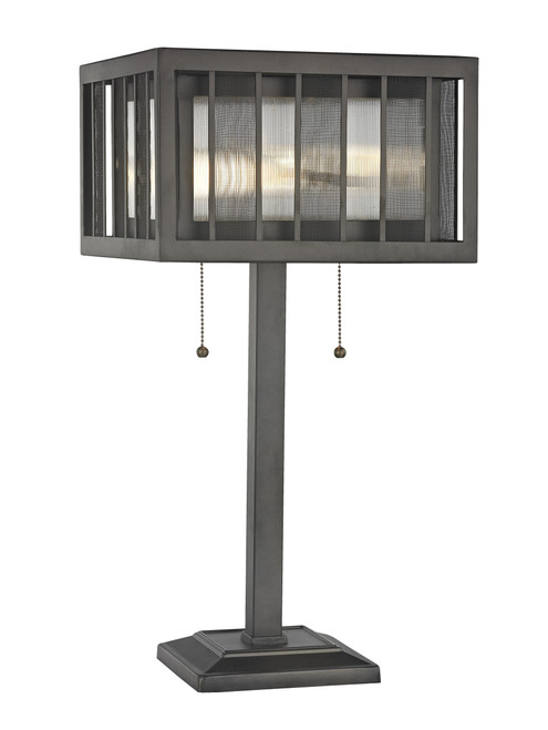 Z-Lite Meridional Collection 2 Light Table Lamp in Bronze Finish, Z14-58TL