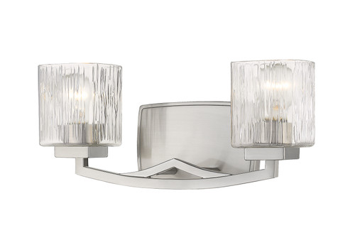 Z-Lite Zaid Collection 2 Light Vanity in Brushed Nickel Finish, 1929-2V-BN