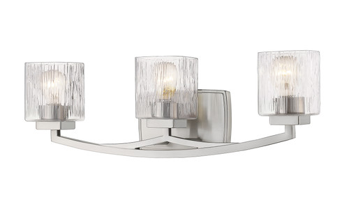 Z-Lite Zaid Collection 3 Light Vanity in Brushed Nickel Finish, 1929-3V-BN