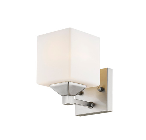 Z-Lite Quube Collection 1 Light Vanity in Brushed Nickel Finish, 2104-1V