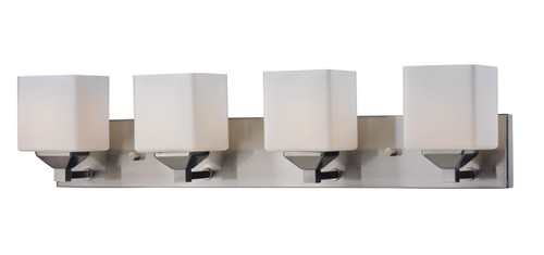 Z-Lite Quube Collection 4 Light Vanity in Brushed Nickel Finish, 2104-4V
