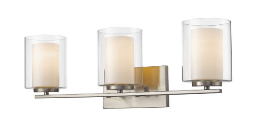 Z-Lite Willow Collection 3 Light Vanity in Brushed Nickel Finish, 426-3V-BN
