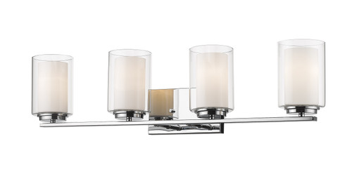 Z-Lite Willow Collection 4 Light Vanity in Chrome Finish, 426-4V-CH