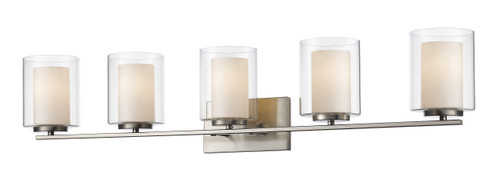 Z-Lite Willow Collection 5 Light Vanity in Brushed Nickel Finish, 426-5V-BN