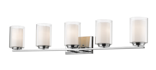 Z-Lite Willow Collection 5 Light Vanity in Chrome Finish, 426-5V-CH