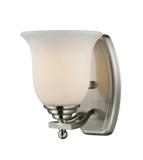 Z-Lite Lagoon Collection 1 Light Vanity in Brushed Nickel Finish, 704-1V-BN