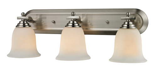 Z-Lite Lagoon Collection 3 Light Vanity in Brushed Nickel Finish, 704-3V-BN