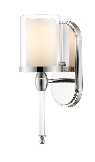 Z-Lite Argenta Collection 1 Light Wall Sconce in Chrome Finish, 1908-1S