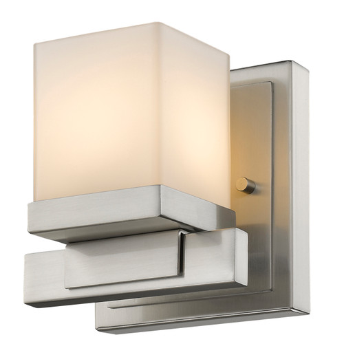 Z-Lite Cadiz Collection 1 Light Wall Sconce in Brushed Nickel Finish