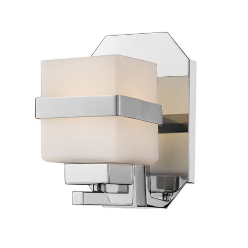 Z-Lite Ascend Collection 1 Light Wall Sconce in Chrome Finish, 1915-1S-CH-LED