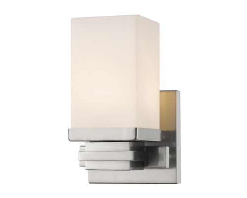 Z-Lite Avige Collection 1 Light Wall Sconce in Brushed Nickel Finish, 1916-1S-BN-LED