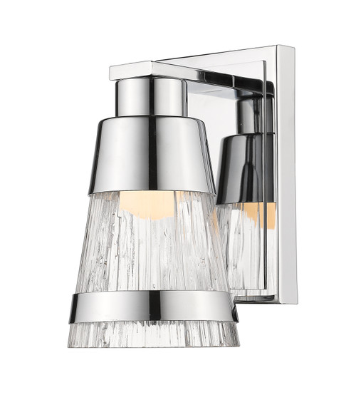 Z-Lite Ethos Collection 1 Light Wall Sconce in Chrome Finish, 1923-1S-CH-LED