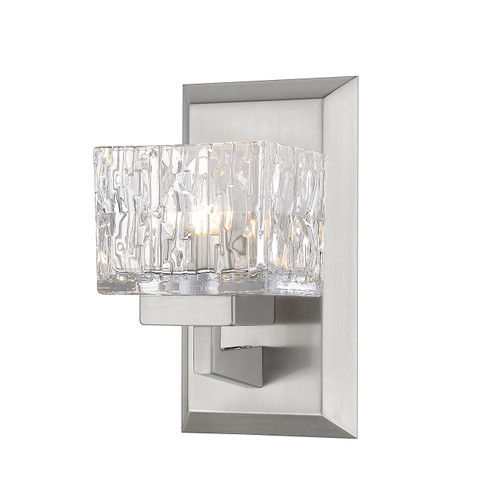 Z-Lite Rubicon Collection 1 Light Wall Sconce in Brushed Nickel Finish, 1927-1S-BN-LED