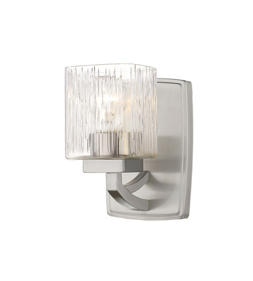 Z-Lite Zaid Collection 1 Light Wall Sconce in Brushed Nickel Finish, 1929-1S-BN