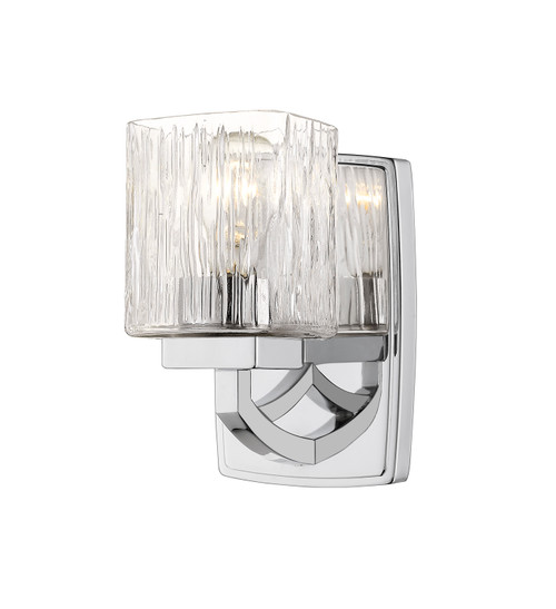 Z-Lite Zaid Collection 1 Light Wall Sconce in Chrome Finish, 1929-1S-CH