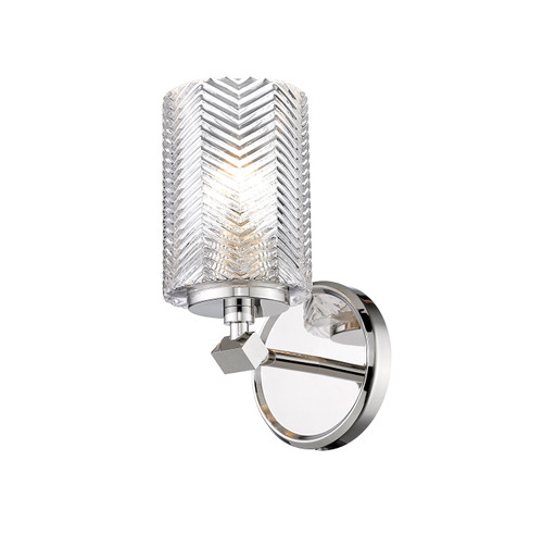 Z-Lite Dover Street Collection 1 Light Wall Sconce in Polished Nickel Finish, 1934-1S-PN