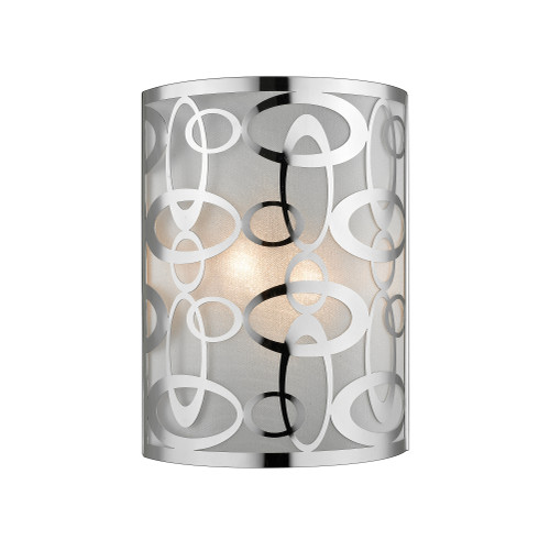 Z-Lite Opal Collection 2 Light Wall Sconce in Chrome Finish, 195-2S-CH