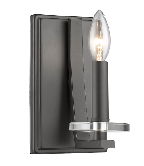 Z-Lite Verona Collection 1 Light Wall Sconce in Bronze Finish, 2010-1S-BRZ
