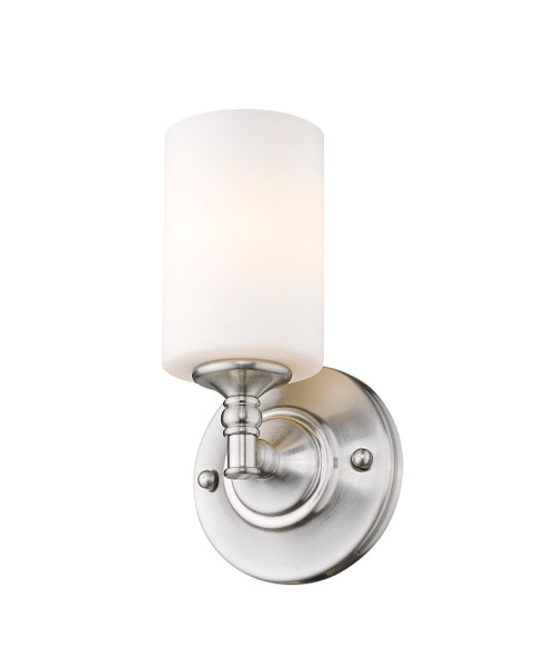 Z-Lite Cannondale Collection 1 Light Wall Sconce in Brushed Nickel Finish, 2102-1S