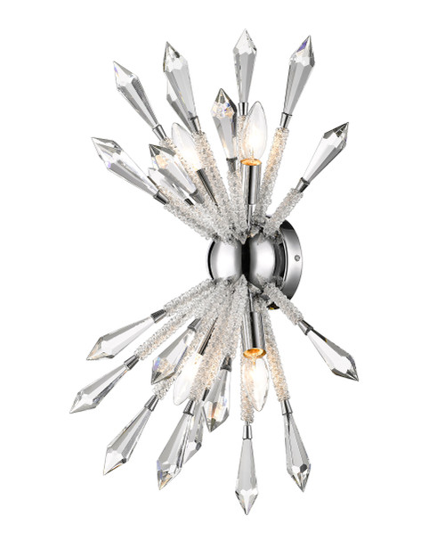 Z-Lite Soleia Collection 4 Light Wall Sconce in Chrome Finish, 4002-4S