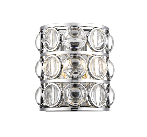 Z-Lite Eternity Collection 2 Light Wall Sconce in Chrome Finish, 4004-2S-CH