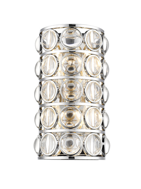 Z-Lite Eternity Collection 4 Light Wall Sconce in Chrome Finish, 4004-4S-CH