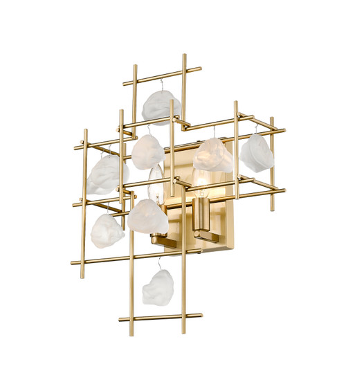 Z-Lite Garroway Collection 2 Light Wall Sconce in Aged Brass Finish, 4007S-AGBR